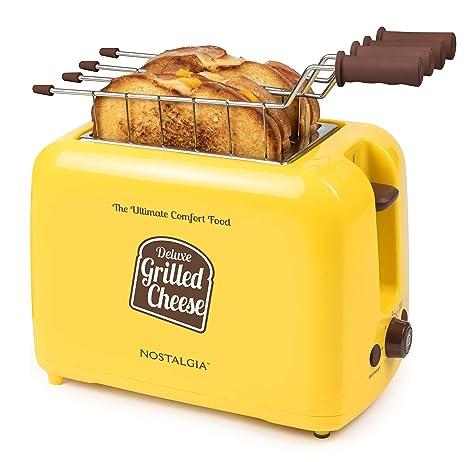 Amazon.com: Nostalgia GCT2 - Tostador de queso con ranuras ...