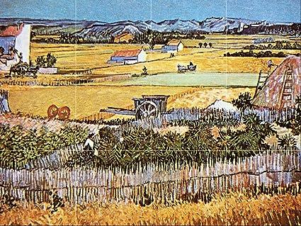 Matte The Harvest by Van Gogh Tile Mural Kitchen Bathroom Wall Backsplash Behind Stove Range Sink Splashback 4x3 6 Ceramic