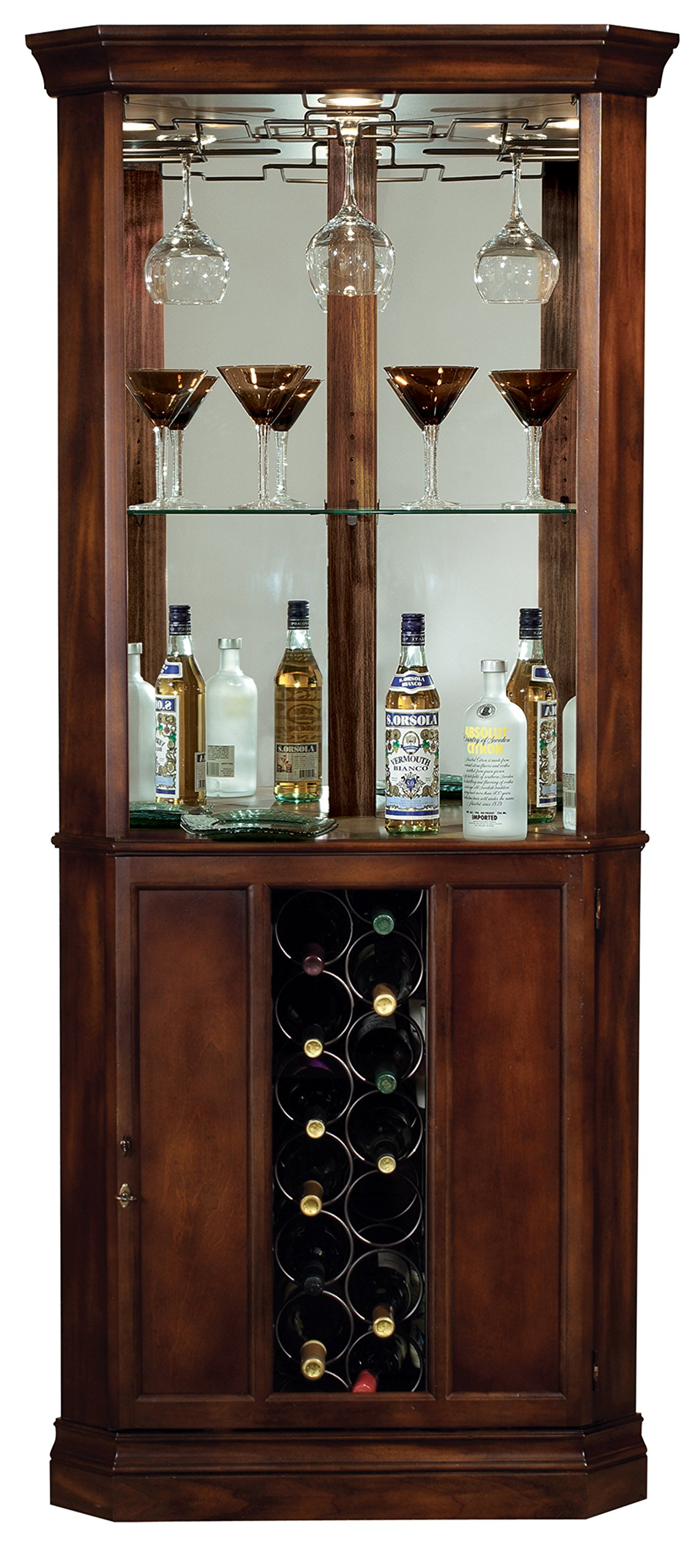 Howard Miller 690-000 Piedmont Corner Wine Cabinet by Howard Miller