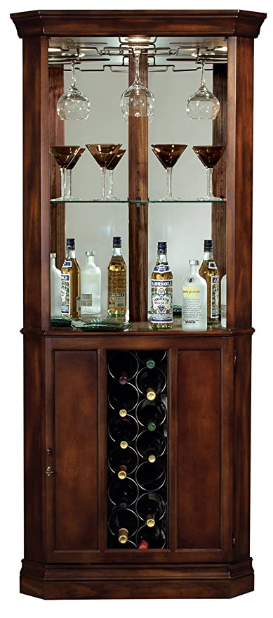 Amazon Com Howard Miller 690 000 Piedmont Corner Wine Cabinet
