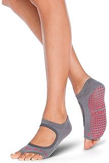 Calcetines Yoga Pilates Antideslizante Deporte Mujer, Colchoneta deporte accesorios yoga, Calcetín dedos para Ballet