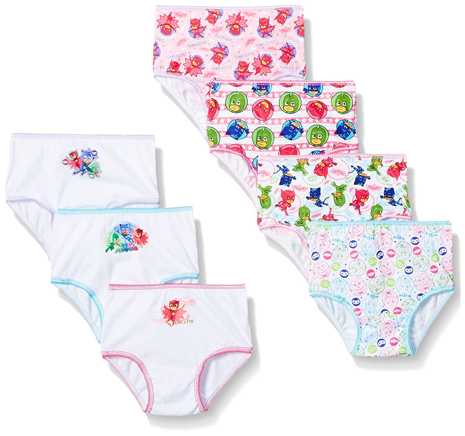 PJ Masks Girls 7-Pack Brief Bikini Panty Toddler Underwear TGUP5108