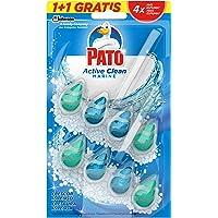 PATO Active Clean Colgador para Inodoro, Frescor Intenso, Perfuma y Desinfecta, Aroma, (duo Pack, 2 Unidades) [todos los…