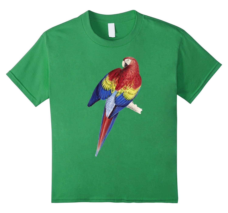 Parrot T shirt Scarlet Jungle Cranberry Teechatpro