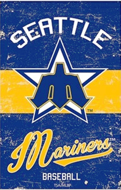 Seattle Mariners VINTAGE Retro BANNER Premium 2-sided 28x44 House Flag Baseball
