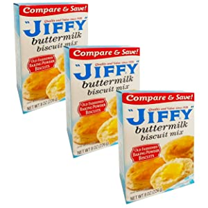Jiffy Buttermilk Biscuit Mix - 3 Pack Bulk Bundle Jiffy Bisquit Mix (24 oz Total)