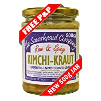 The Sauerkraut Company KIMCHI-KRAUT (1 x 500G) Organic Ingredients, Unpasteurised, Probiotic!