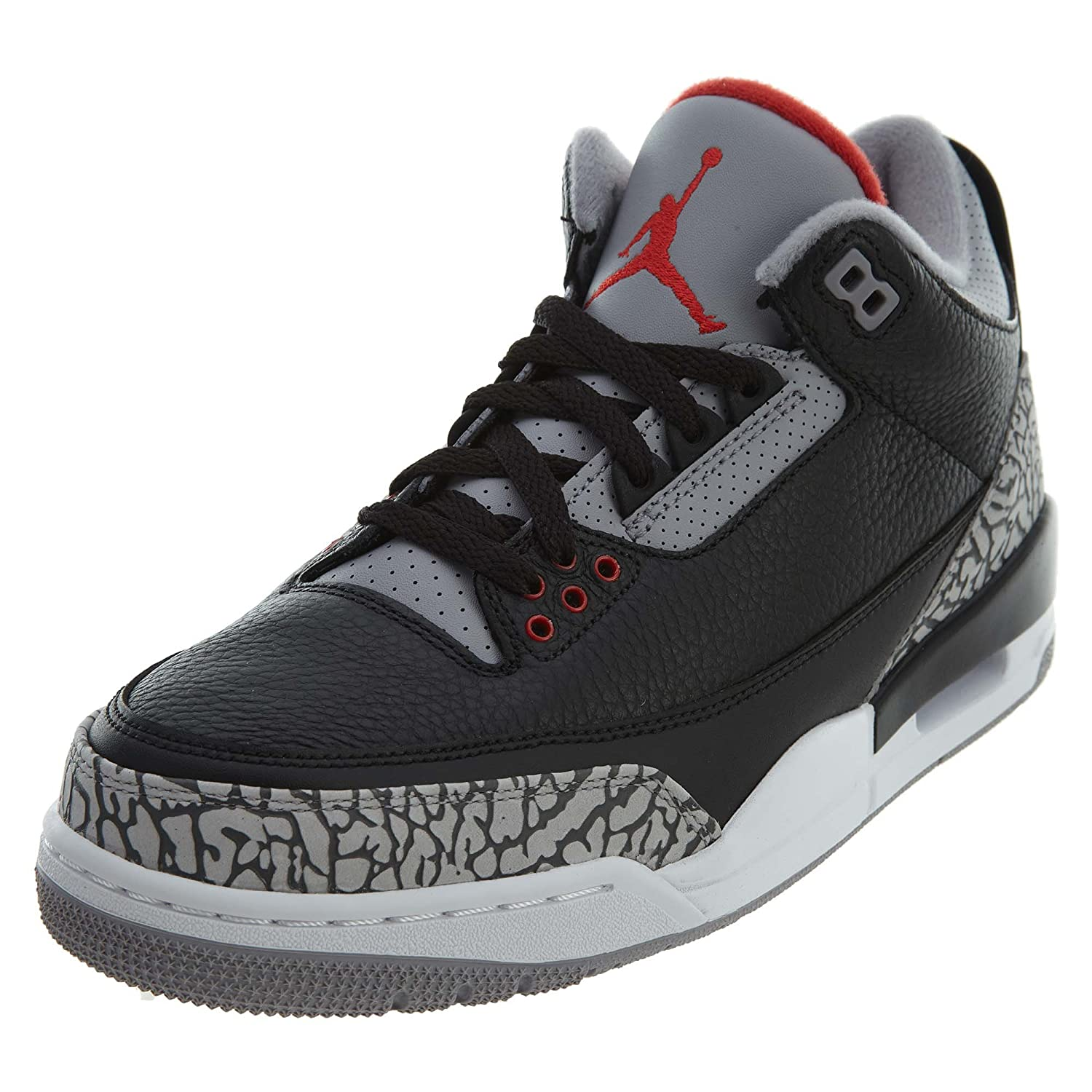 9f91d2f283b Amazon.com | Nike Men's Air Jordan 3 Retro OG Basketball Shoes (12 D(M) US,  Black/Fire Red-Cement Grey) | Basketball