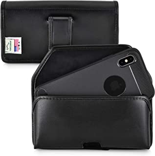 product image for Turtleback Holster Designed for iPhone 11 Pro Max (2019) and iPhone Xs MAX (2018) Belt Case Black Leather Pouch with Executive Belt Clip, Horizontal Made in USA