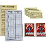 Pinochle Score Pad Gift Set (Red): 40 Page Score Pad, Two Decks Red Bicycle Pinochle Playing Cards, Four Meld Tables and Double Pinochle Quick Reference Guide
