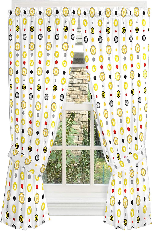 "Franco Kids Room Window Curtain Panels with Tie Backs Drapes Set, 82"" x 63"", Pokemon"