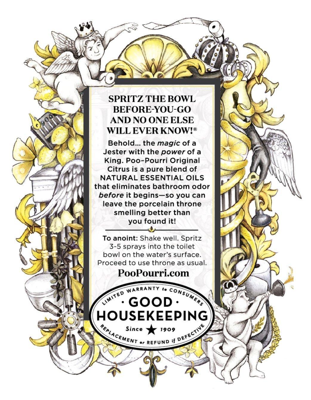 Poo-Pourri Vanilla Mint 4 Ounce, Tropical Hibiscus 1.4 Ounce and Original Citrus 1.4 Ounce by Poo-Pourri (Image #7)