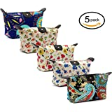 HOYOFO Women's Travel Cosmetic Bags Small Makeup Clutch Pouch Cosmetic and Toiletries Organizer Bag (M set)