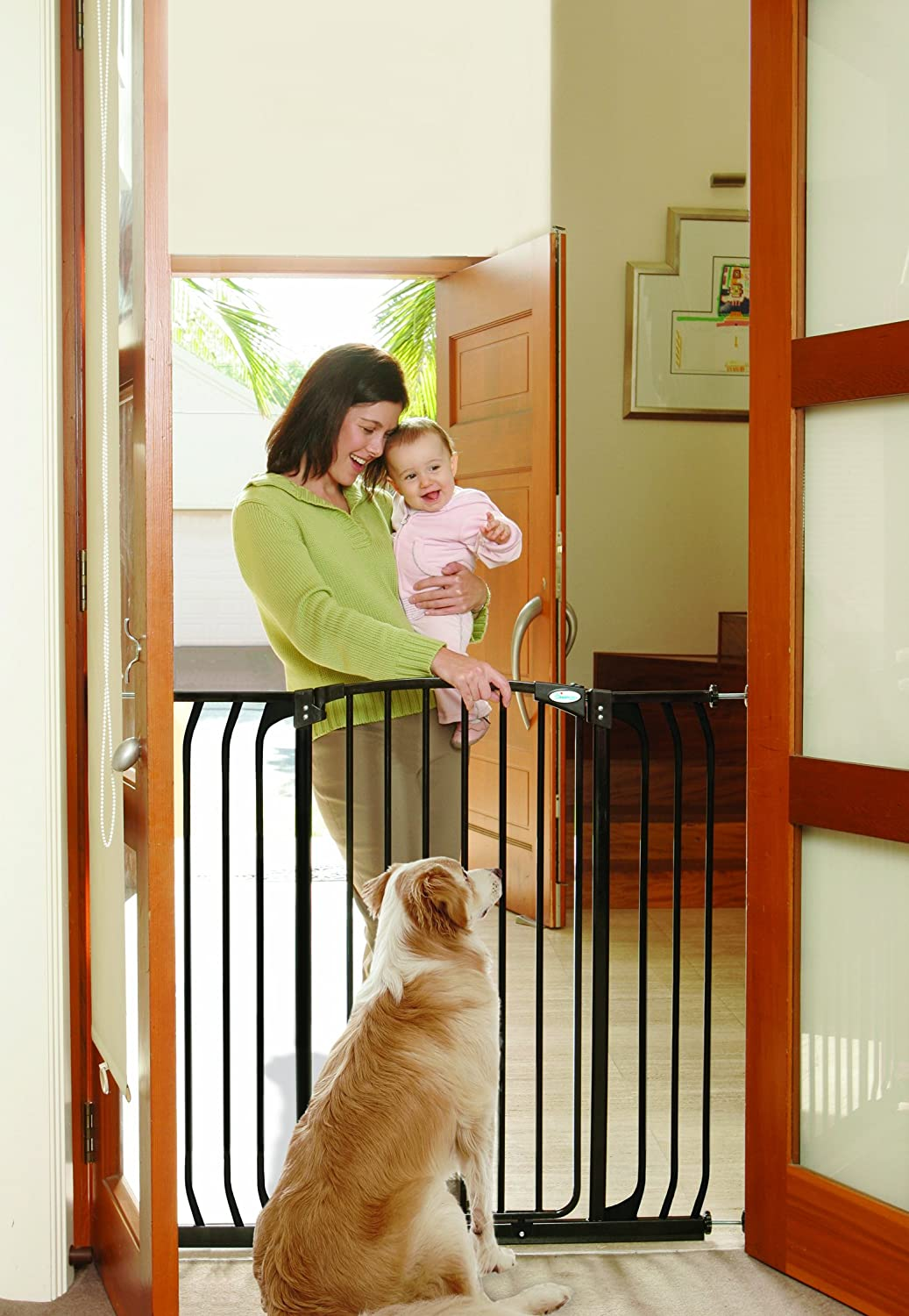 Amazon.com : Dreambaby Chelsea Extra Tall And Wide Auto Close Security Gate  In Black : Indoor Safety Gates : Baby