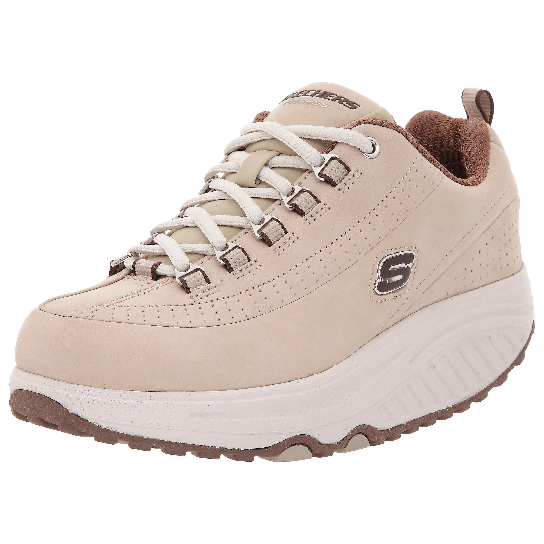 Skechers Women's Shape Ups Optimize Fitness Walking Shoe,Stone/Brown,9 M US