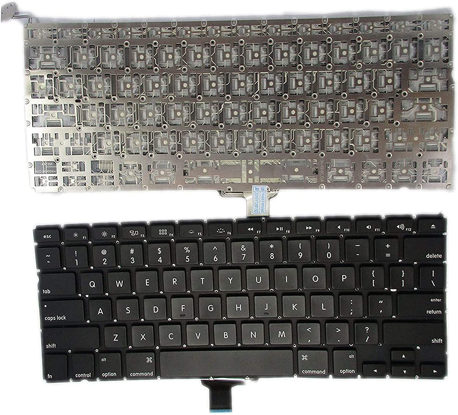 SUNMALL New A1278 Keyboard Replacement Without Backlight Backlit for MacBook Pro 13