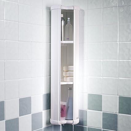 Showerlux Stowaway - Armario esquinero para baño  Amazon.es  Hogar 0f7fb1fc99af