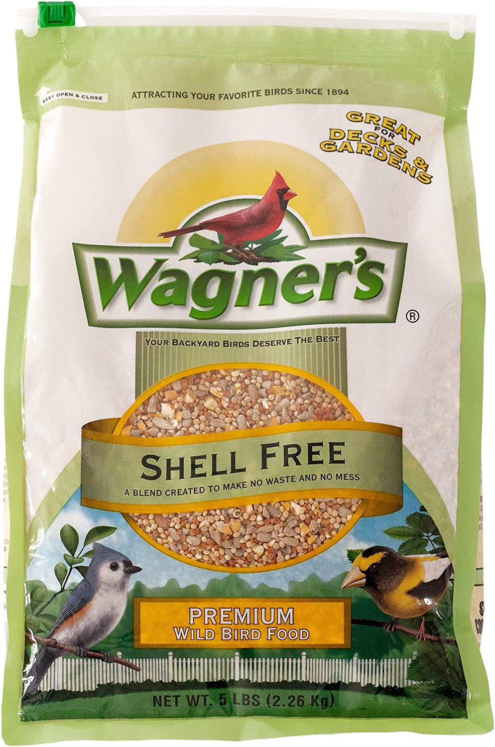 Wagner's 62056 Shell Free Blend Wild Bird Food, 5-Pound Bag
