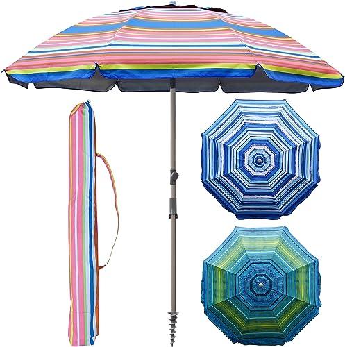 Blissun 7.2' Portable Beach Umbrella