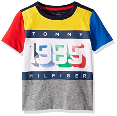 2064e5a0 Amazon.com: Tommy Hilfiger Boys' Big Adaptive T Shirt with Velcro Brand  Closure at Shoulders: Clothing