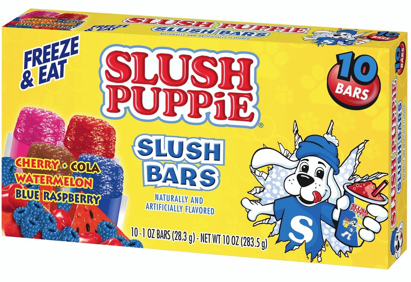 Slush Puppie Slush Bars, Assorted Flavors (12 Boxes, 10 - 1 oz bars per box)