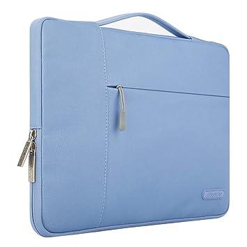 MOSISO Maletín Compatible con 13-13,3 Pulgadas MacBook Air/MacBook Pro Retina/2019 Surface Laptop 3/Surface Book 2, Poliéster Funda Blanda Protectora ...
