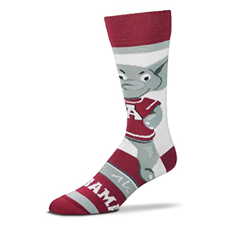 94ec2a775007 Image Unavailable. Image not available for. Color  For Bare Feet Alabama  Crimson Tide Mascot Socks
