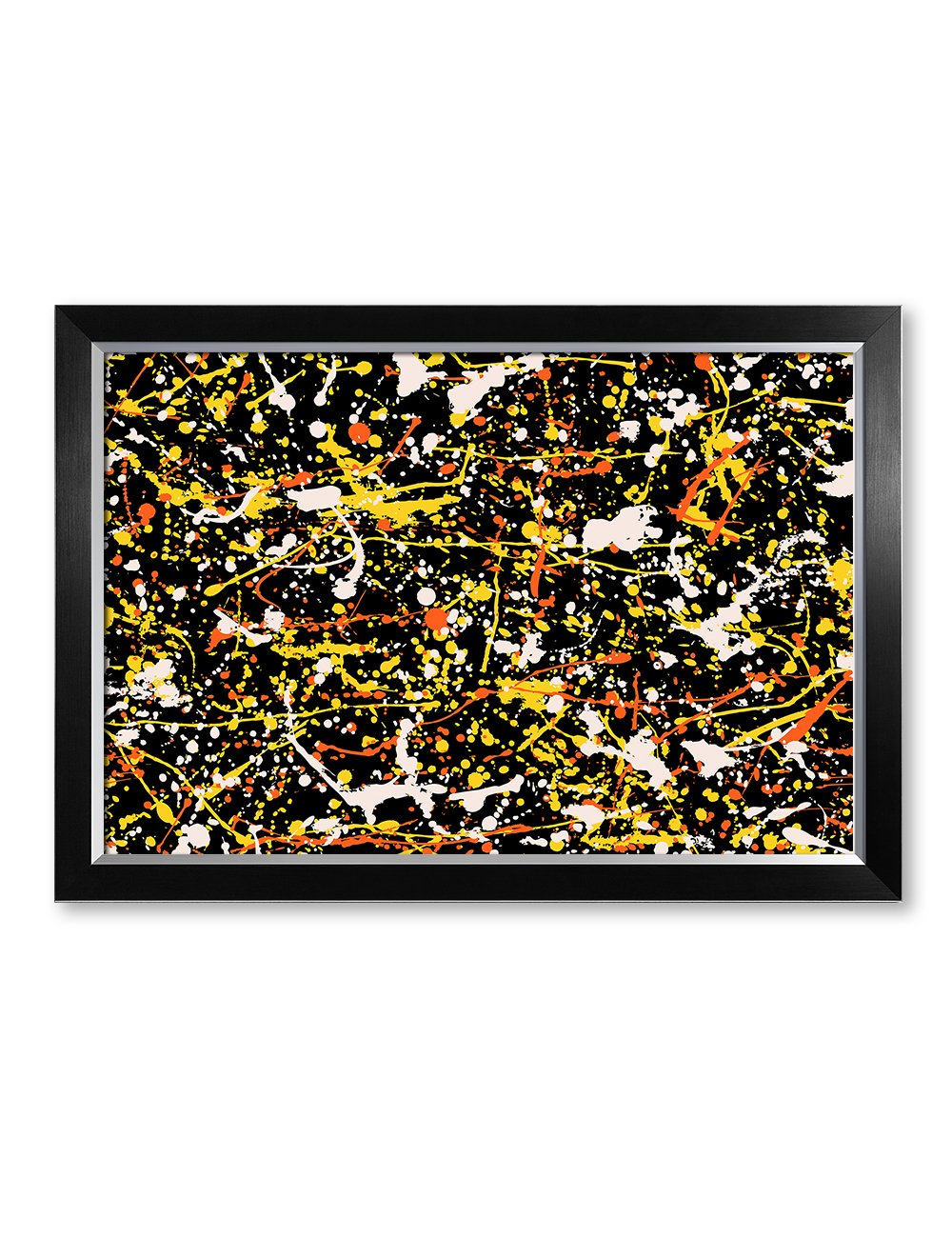 IPIC - Abstract Jackson Pollock Style Artwork. Giclee Print on Canvas Wall Art for Home Decor. Framed size: 33x23'' by IPIC