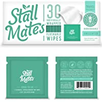 Stall Mates: Flushable individually wrapped wipes for travel. (30 on-the-go singles)