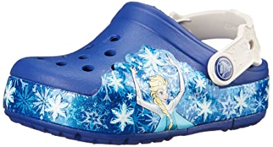 a8757e00f80d01 crocs Kids  CrocsLights Frozen Light-Up Clog (Toddler Little Kid)