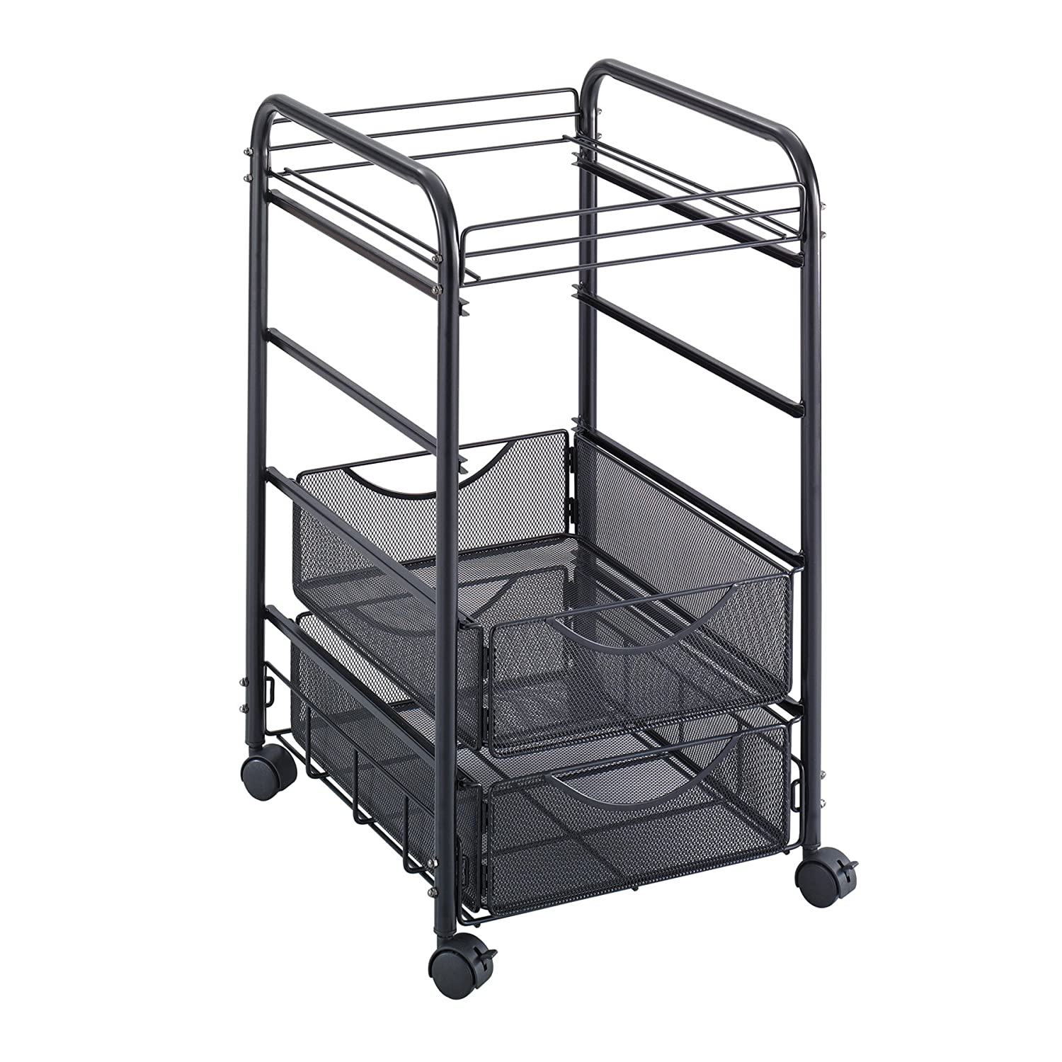 Safco Products Onyx Mesh File Cart with 4 Drawers (5214BL)