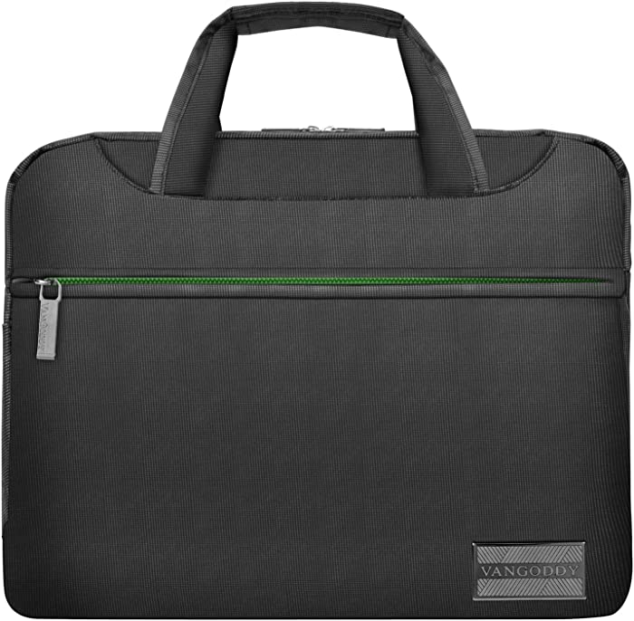 NineO 13Nylon Padded Laptop Messenger Bag, Grey, Green for Acer Switch 3 5, Alpha 12, Chromebook, Aspire R 11, S 13, Spin 1 5 7, Swift 1 5 7 Series 11.6 13.3 14 Tablet Laptop
