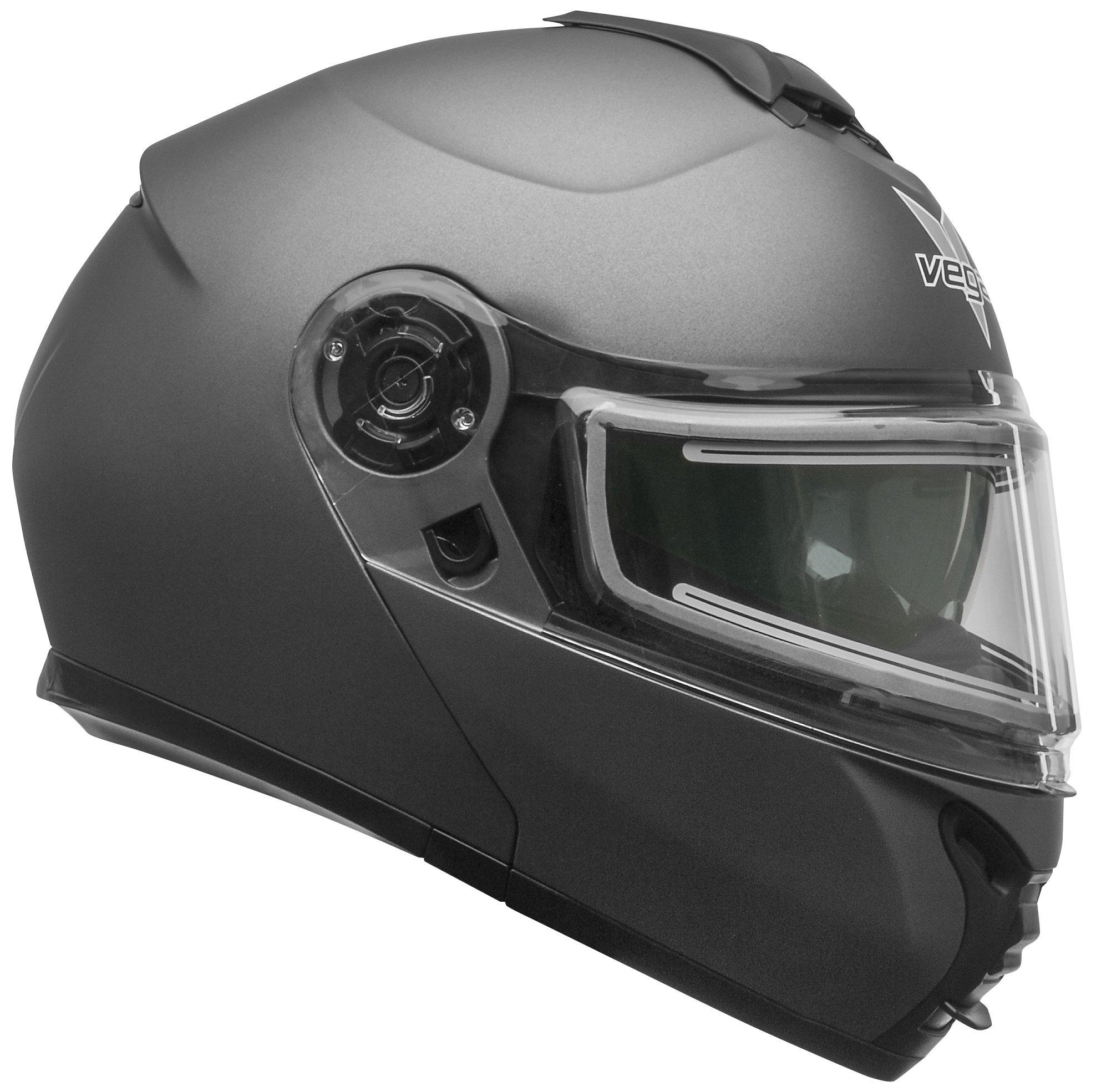 Vega Helmets Unisex-Adult flip Style Electric Snow Helmet Matte Titanium X-Large by Vega Helmets