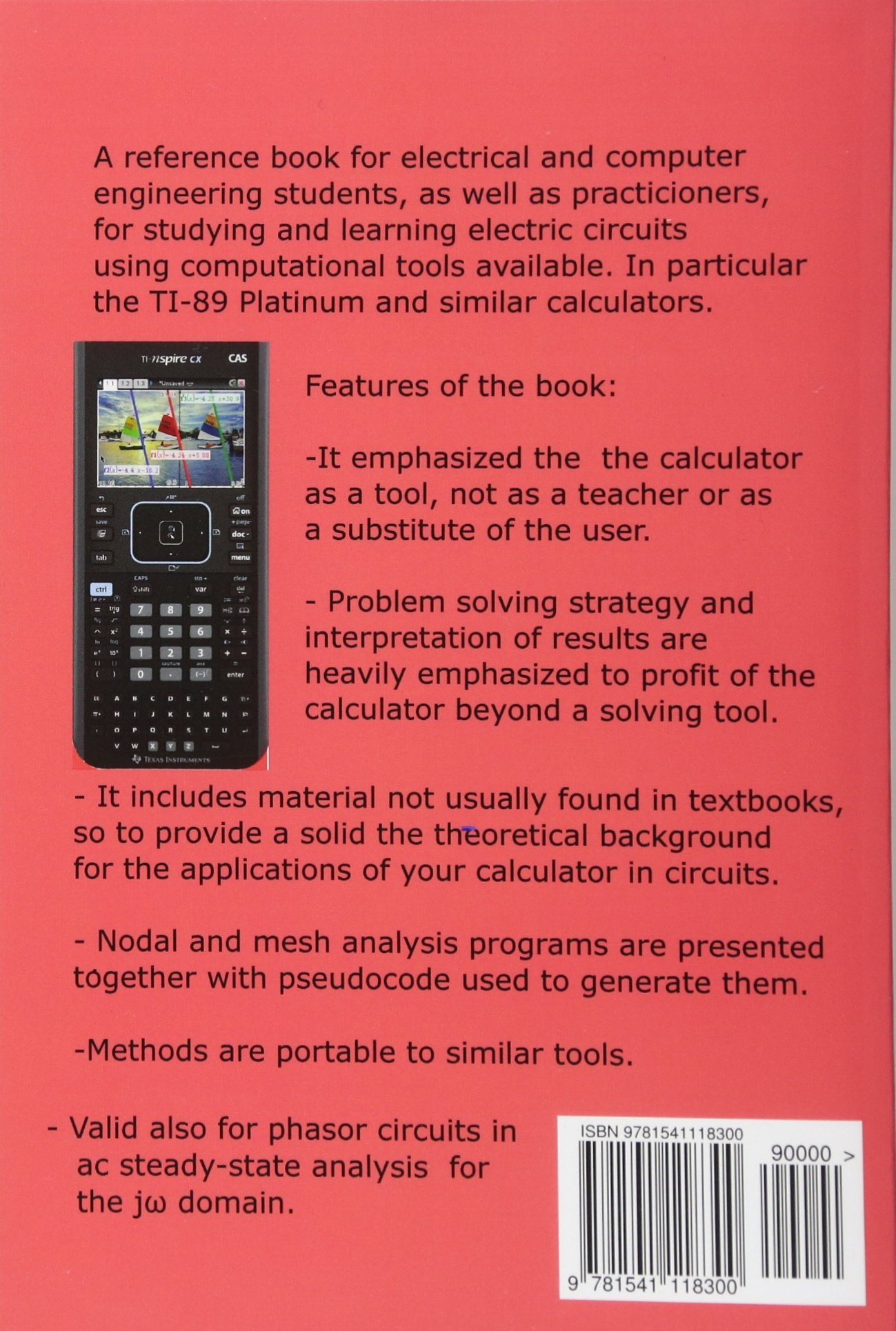 Buy Ti Nspire For Learning Circuits A Reference Tool Book Electric Electrical Engineering Learn And Computer Students Practicioners Volume 2 Graphic Calculators