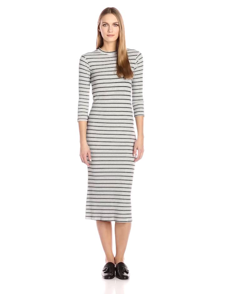 5dc8c5fb155 Amazon.com  Monrow Women s Stripe Sweater Dress