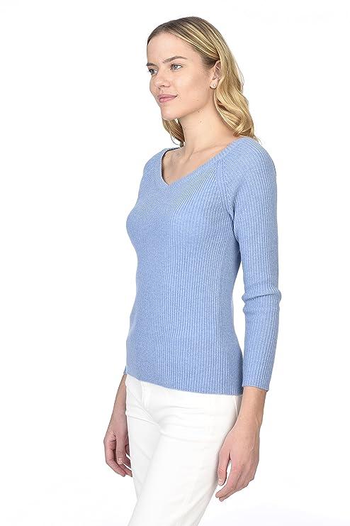 State Cashmere V-Ausschnitt Pullover aus 100% reinem Kaschmir für Damen:  Amazon.de: Bekleidung