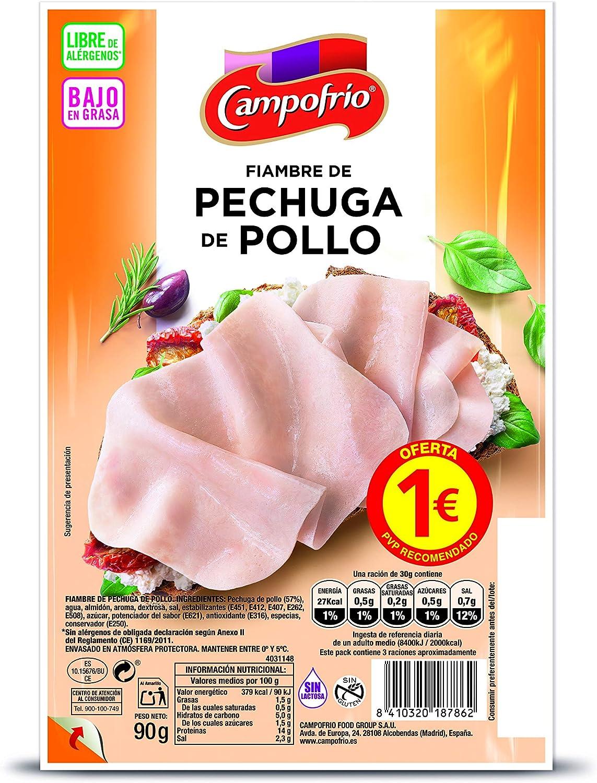 Campofrio Lonchas de Pechuga de Pollo, 90g