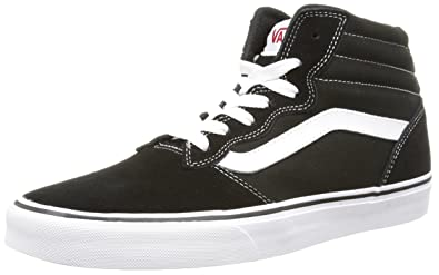 Vans Sk8 Hi Black White Suede Mens Trainers