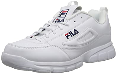 huge discount many styles 2019 original Fila Men's Disruptor SE Training Shoe, White/Fila Navy/Fila Red, 10.5 M US