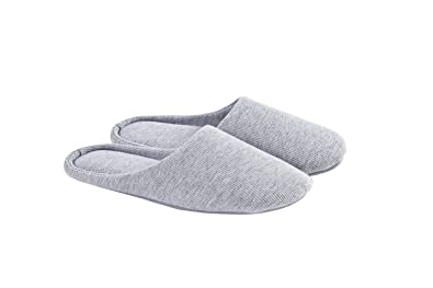93ed57c64 Image Unavailable. Image not available for. Color: ofoot Women's Indoor  Slippers,Memory Foam Washable Cotton Non-Slip ...
