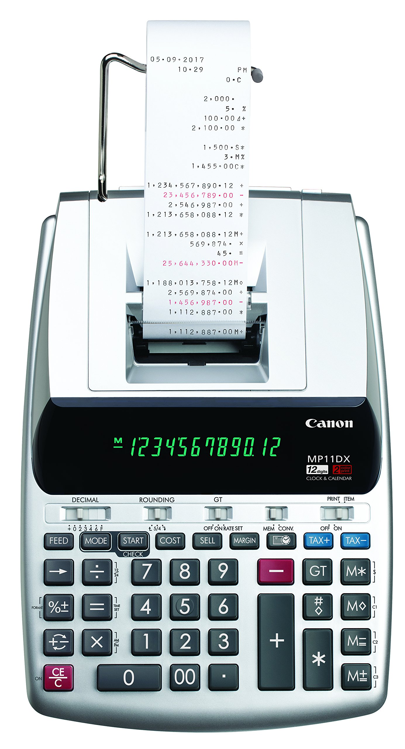 Canon Office Products 2198C001 Canon MP11DX-2 Desktop Printing Calculator with Currency Conversion, Clock and Calendar by Canon