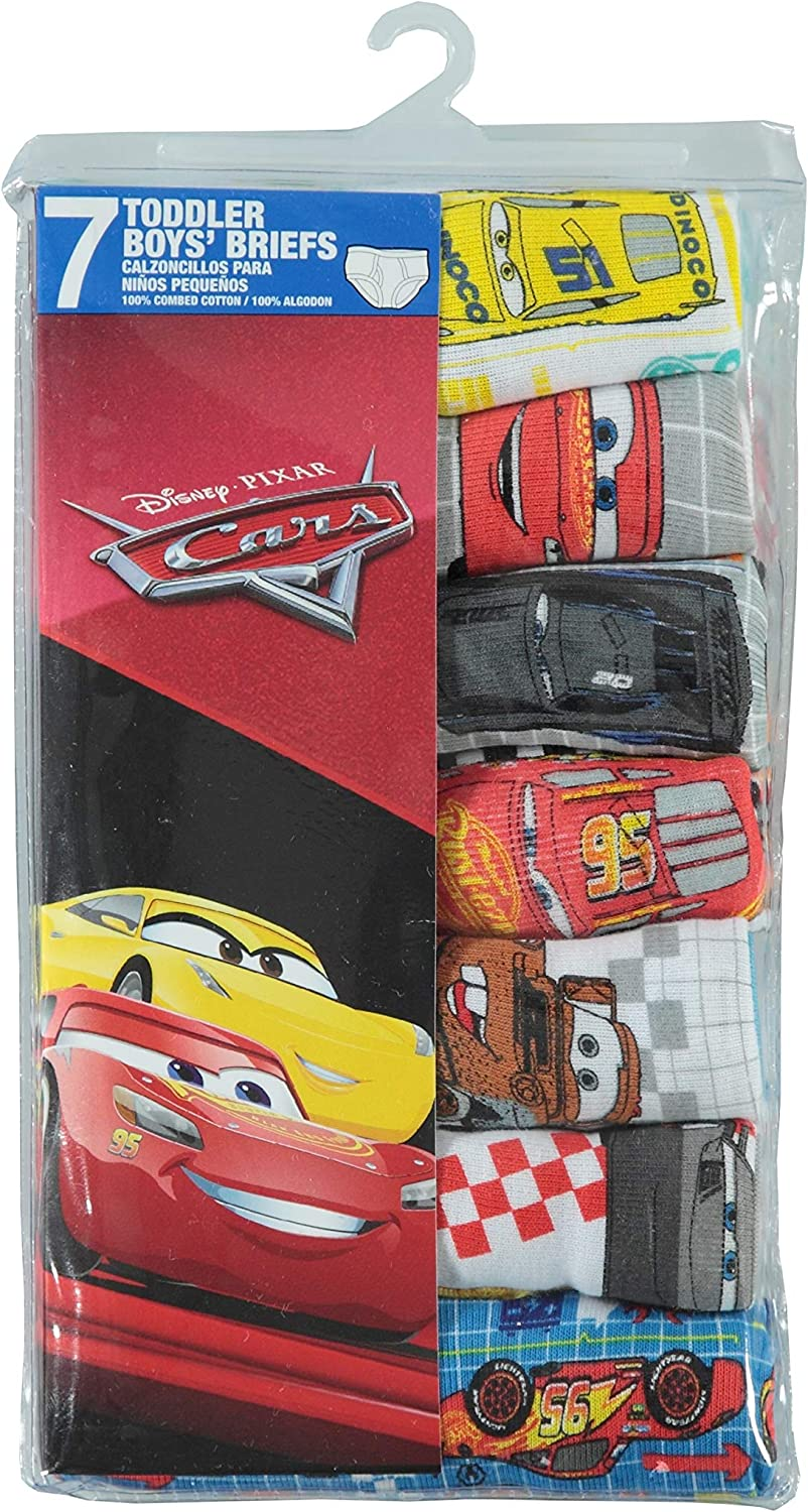Size 4T Cars Toddler Boys Briefs 2 Packs of 7-14 Pairs Total