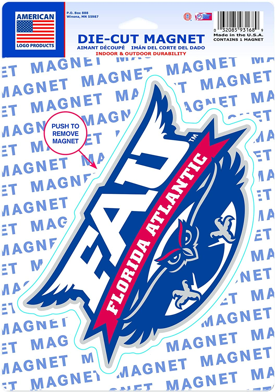 WinCraft Florida Atlantic Owls Official NCAA 6 x 9 Car Refrigerator Magnet 6x9 931689