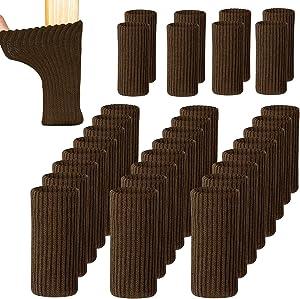 UrsoKuz 32PCS Chair Socks for Hardwood Floors High Elastic Non Slip Chair Leg Feet Socks Covers Furniture Caps Set, Fit Girth from 2.7