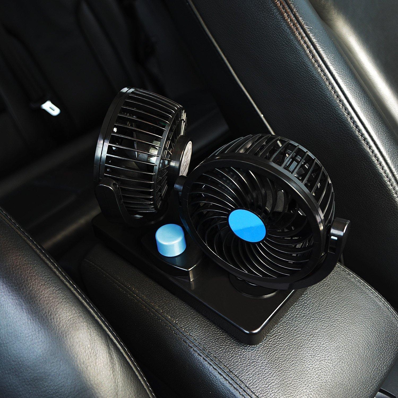 After partz 12 V Auto Ventilador Coche Ventilador doble ventilador, HX de 01: Amazon.es: Coche y moto