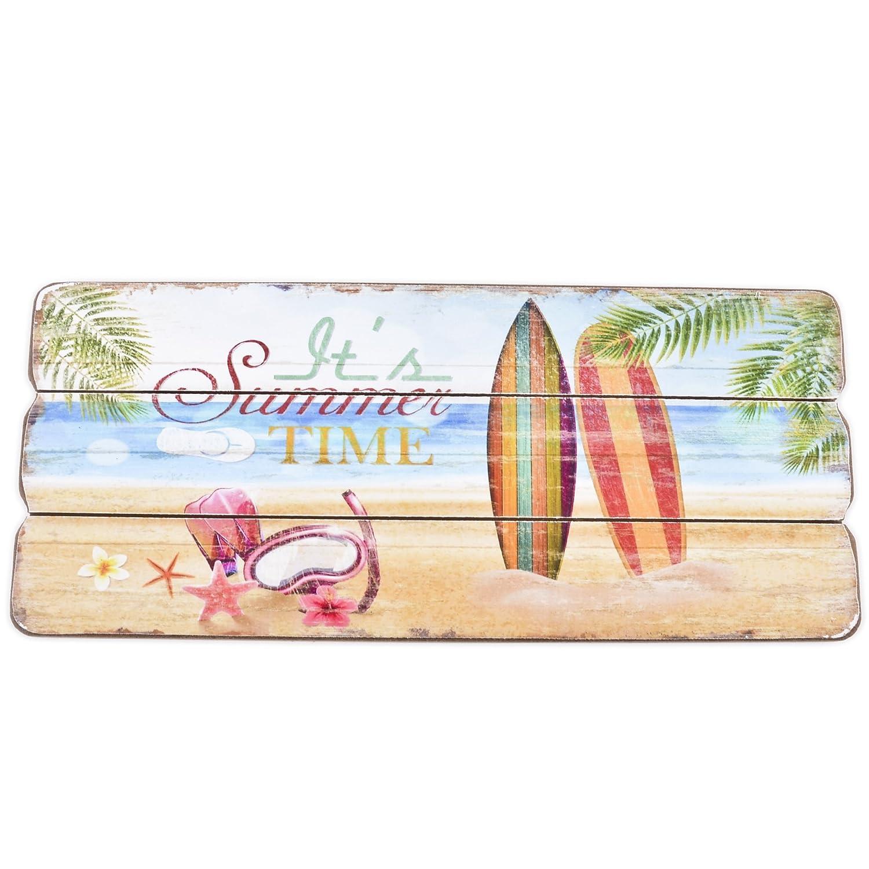 Holzschild Dream of Summer Design MDF 25x15cm bunt Wand-Bild Deko