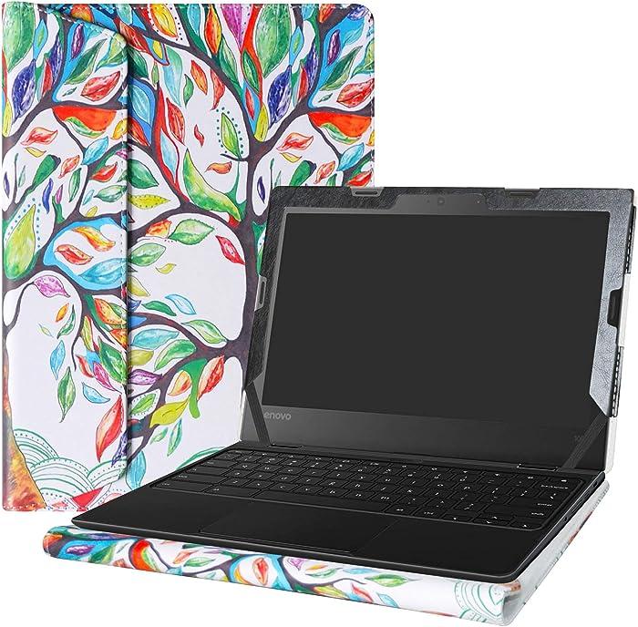 """Alapmk Protective Case Cover For 11.6"""" Lenovo 500e Chromebook 2nd Gen& 300e Chromebook 2nd Gen& 100e Chromebook 2nd Gen Laptop(Warning:Not fit Lenovo 100e Windows&300e Windows 1st Gen),Love Tree"""