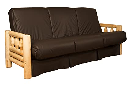 Rocky Mountain Perfect Sit & Sleep Pocketed Coil Inner Spring Pillow Top  Sofa Sleeper Bed, Queen-size, Leather Look Brown Upholstery