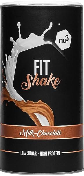 nu3 Fit Shake sabor Chocolate - 450g I 72% de proteína de leche y colágeno