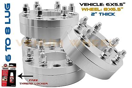 amazon com 6x5 5 to 8x6 5 8x165 1 mm conversion wheel adapters